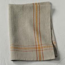 Linen Way Linen Karlie Tea Towel- Flax/Rust