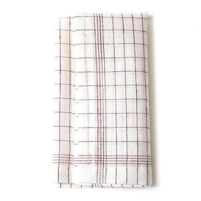 Red Check Linen Napkins (Set of 4)