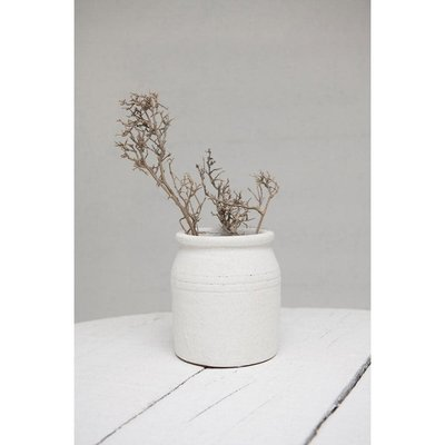Terra-Cotta Crock Distressed White