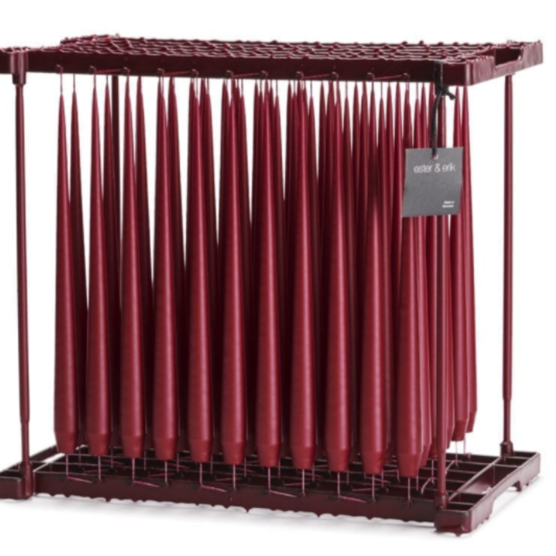 - Taper Candle Lacquer Cabernet Red  42cm