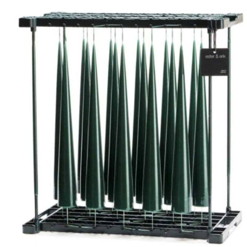 - Lacquer Dark Green 34cm Cone Candle