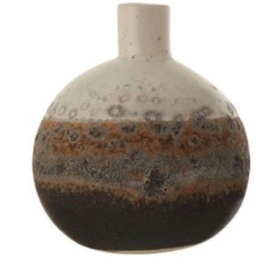 Natural Glazed Bud Vase Globe