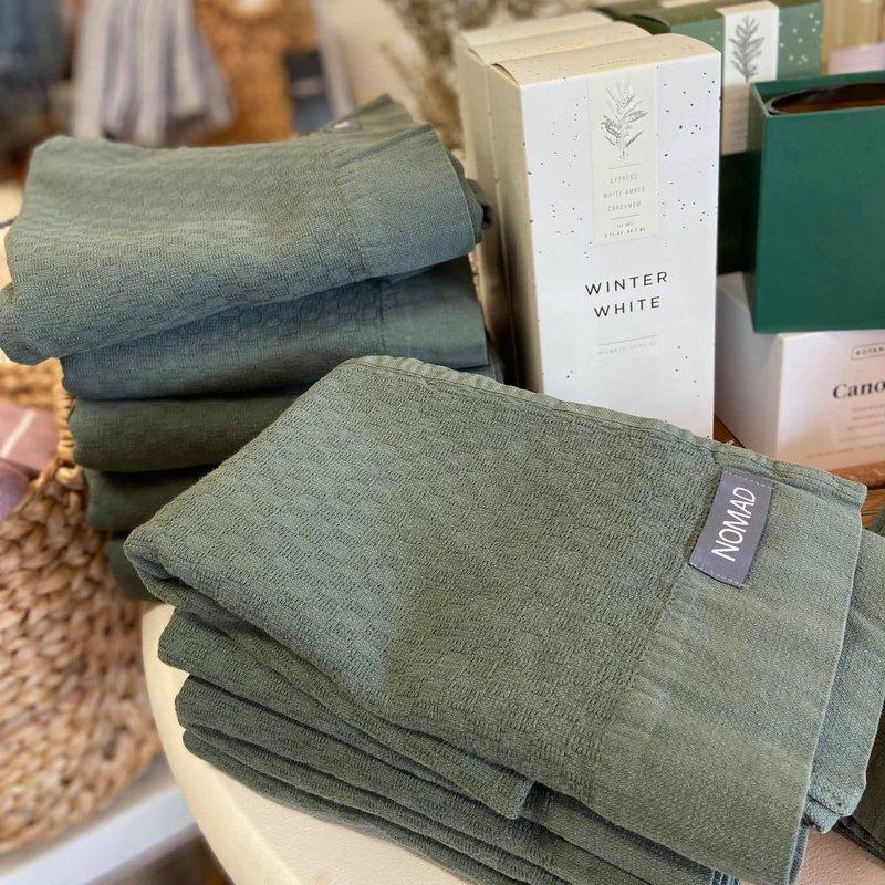 Peshtamal House Alfya Turkish Bath Towel Olive