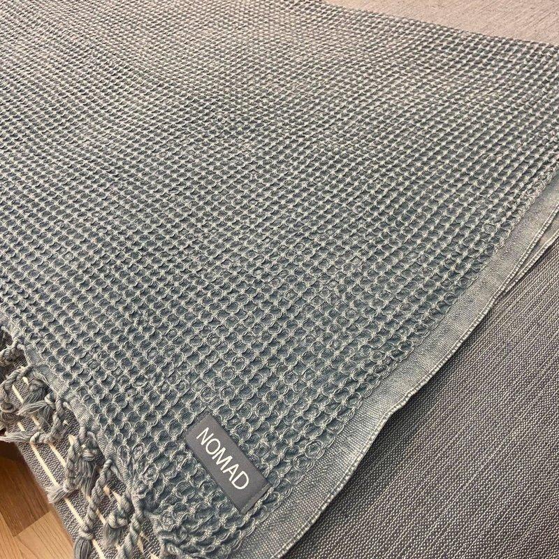 Waffle Blanket/ Coverlet Denim