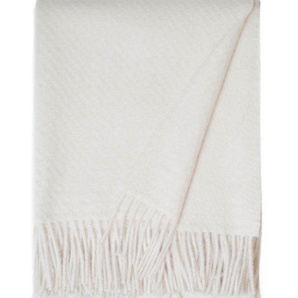 Alpaca / Wool Cork Throw - Ivory