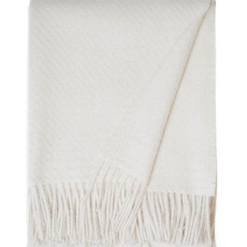 Alpaca / Wool Cork Throw - Ivory
