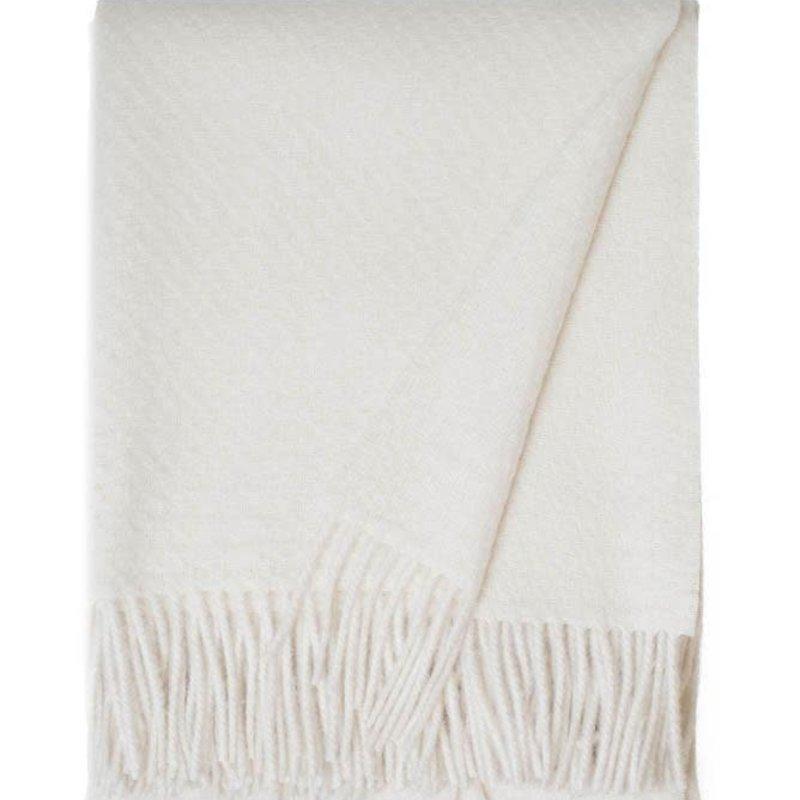 Linen Way Alpaca / Wool Cork Throw - Ivory