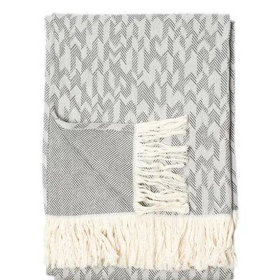 Archer Throw Charcoal/Grey Chevron - Cotton