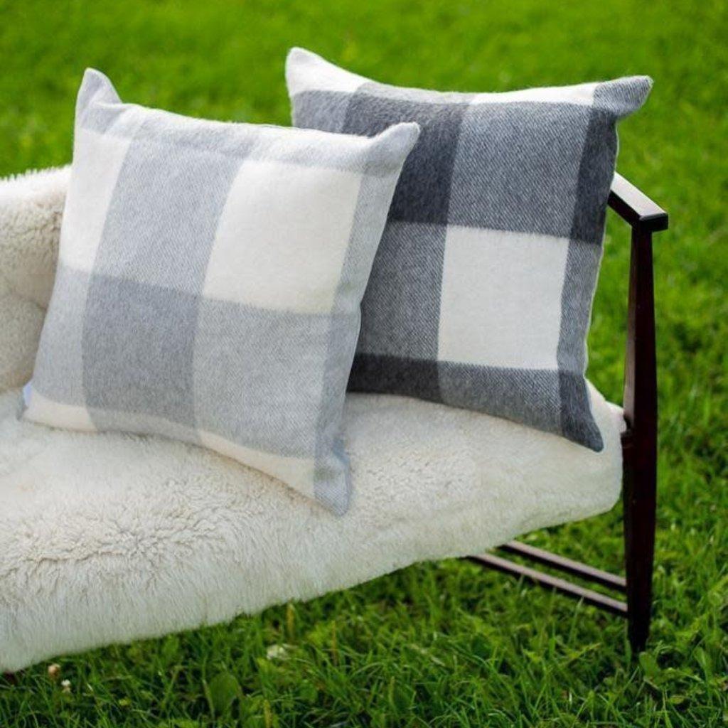 Alpaca St Louis Pillow Cover - Ivory/Smoke