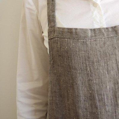 Stonewash Linen Catalina Apron Grey/Natural