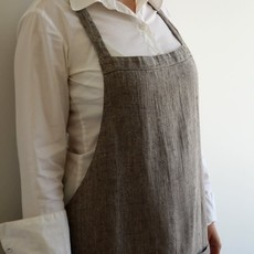 Stonewash Linen Catalina Apron Grey/Natural