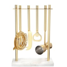 Gold Bar Set w/ Marble Stand