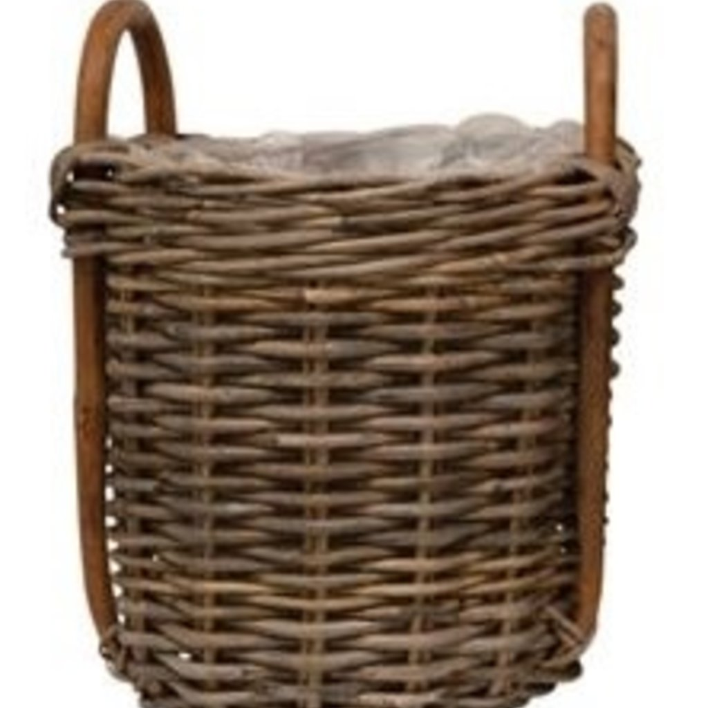 "Bloomingville Wood Basket w/ Handles and Lining 11"" x 15"""