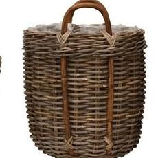 "Bloomingville Wood Basket w/ lining 19"" x 21-1/4"""