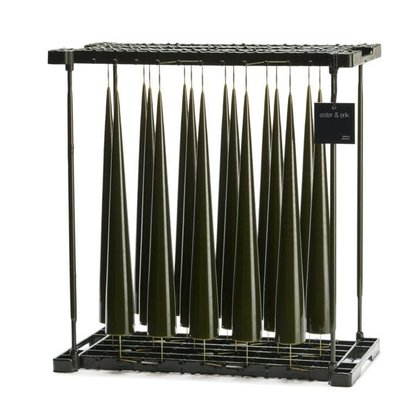 Army Green Lacquer 48cm Cone Candle