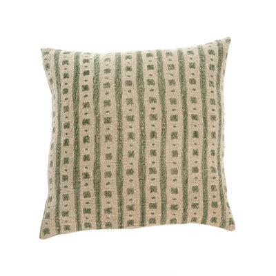 Lulu Nadi Linen Cushion Olive 20x20