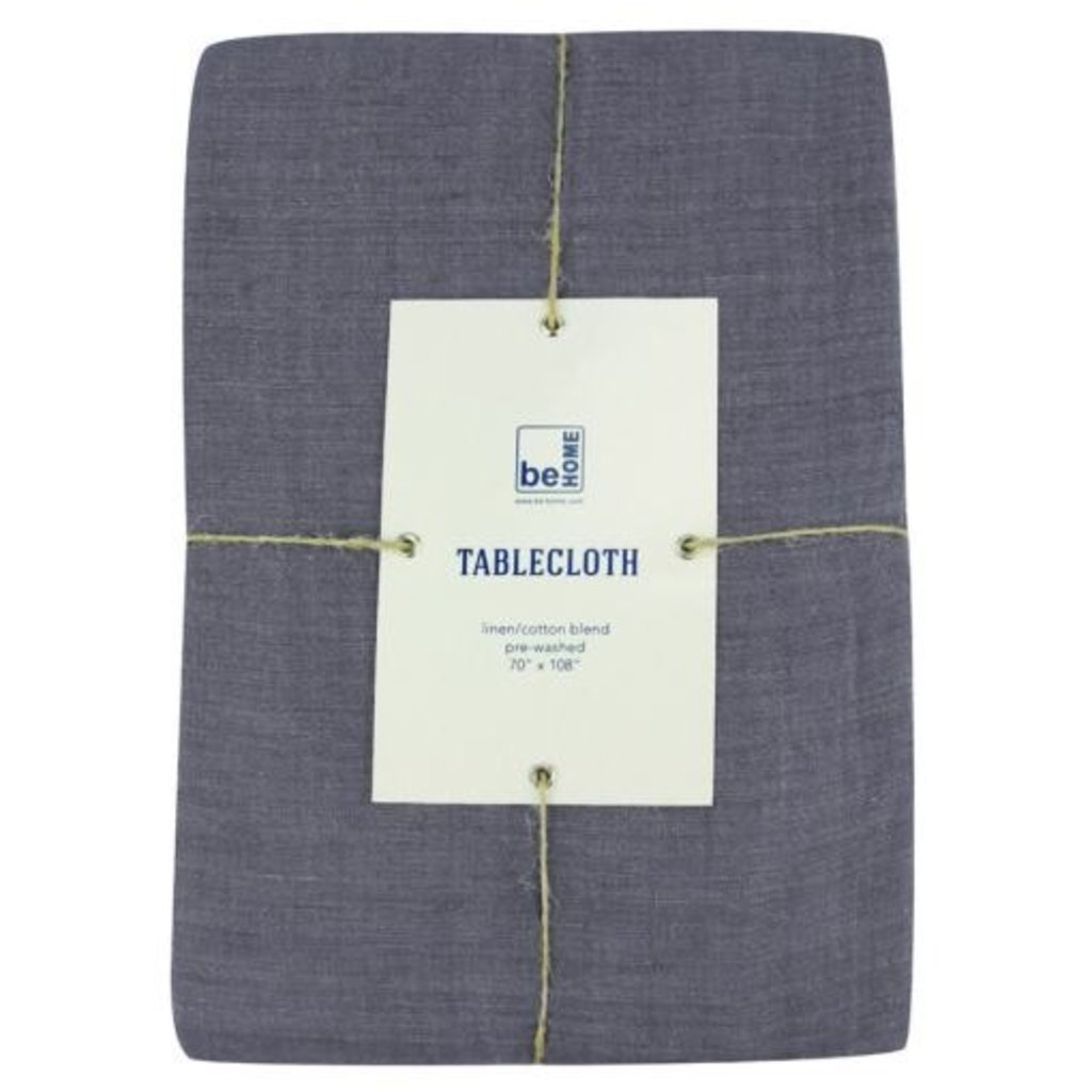 BeHome Linen Tablecloth, Charcoal