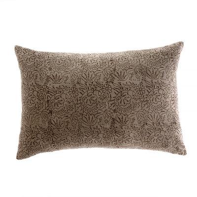 Velvet Coffee Pillow 16x24
