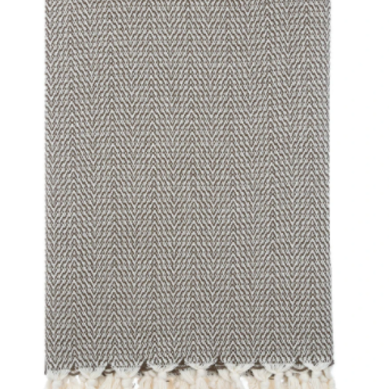 Manolia  Blanket  Dark Charcoal / Cream