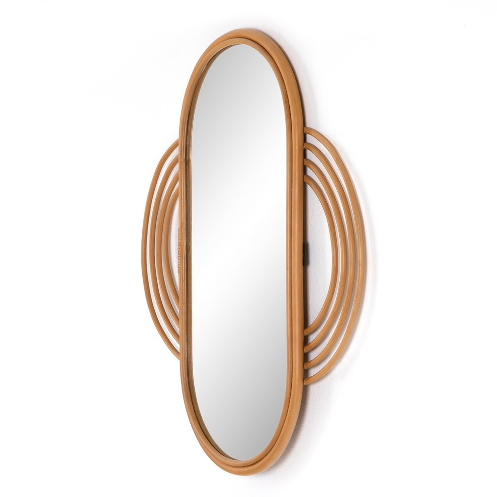 Naz Mirror Honey Rattan