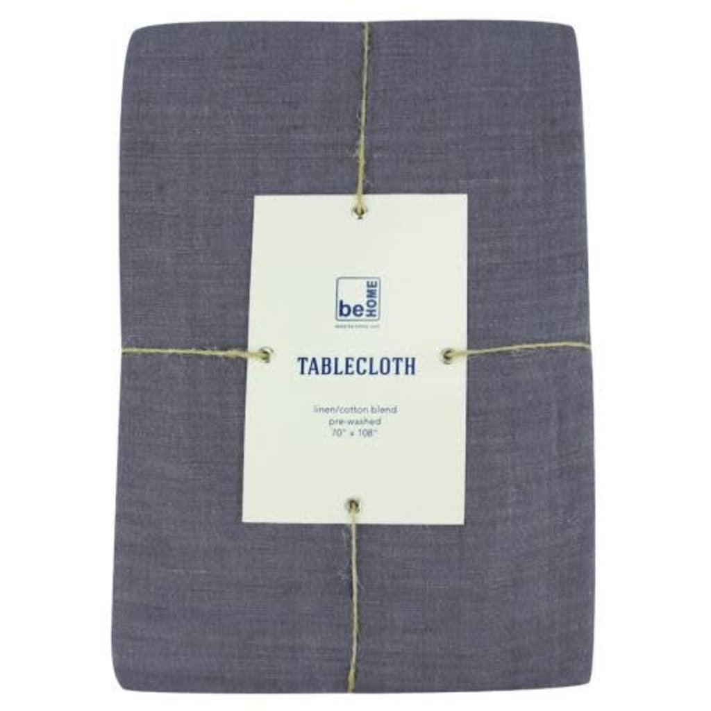 BeHome Linen Table Cloth, Charcoal