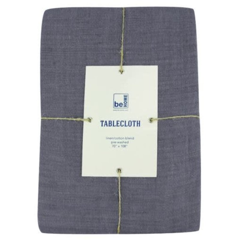 - Linen Table Cloth, Charcoal