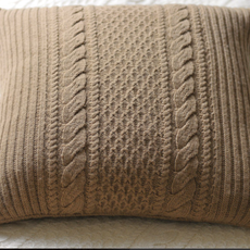 - Alpine Knitted Alpaca Pillow Cover - Oatmeal