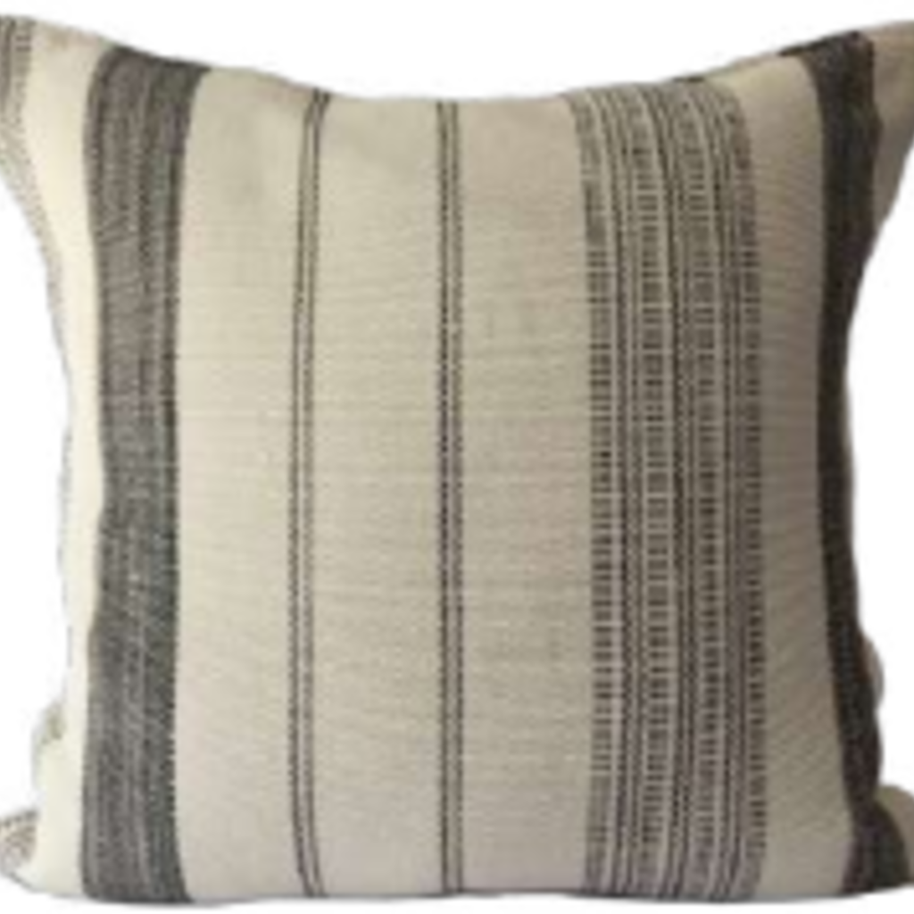 Cream Black Strip Guatemala Pillow Cover
