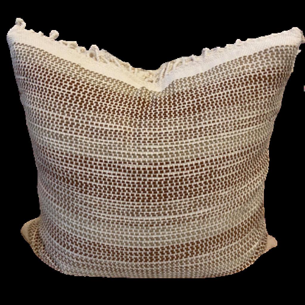 Wayil Bone+Olive+Brown Guatemala Pillow Cover