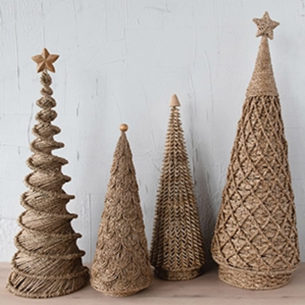 "- Handmade Bankuan Palm Cone Tree 24""H"