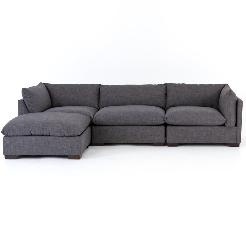 Four Hands Westwood Sectional 3pc with Ottoman (More Colours Available)
