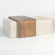 Alder and Tweed Asher Ottoman