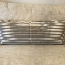 Oaxaca Cotton Lumbar Beige Stripe - Cover Only
