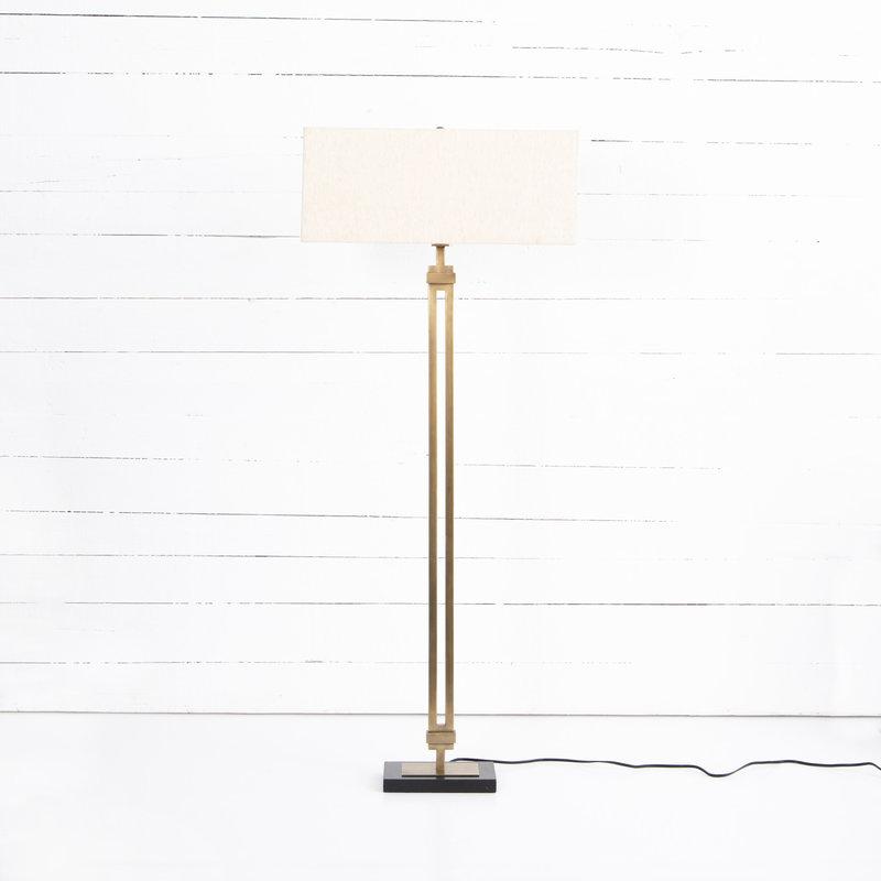 Four Hands Rae Floor Lamp - Light Beige Shade