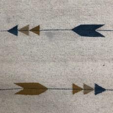 Wool Indigo/Mustard Arrow Runner