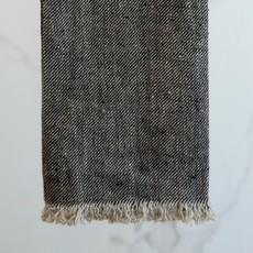 - Stonewash Linen Bilbao Hand Towel/Tea Towel- Charcoal
