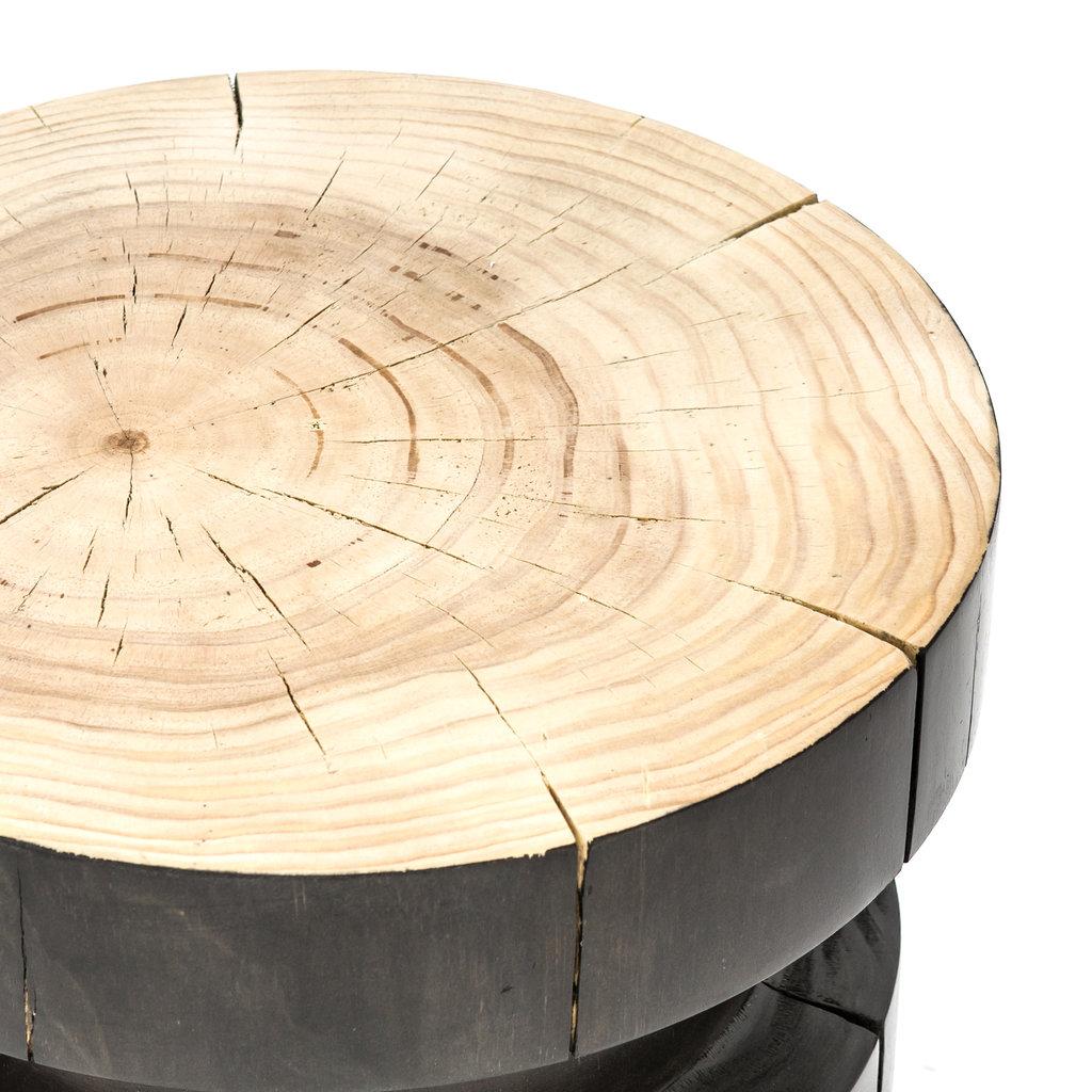 Four Hands Nez End Table - Black Pine