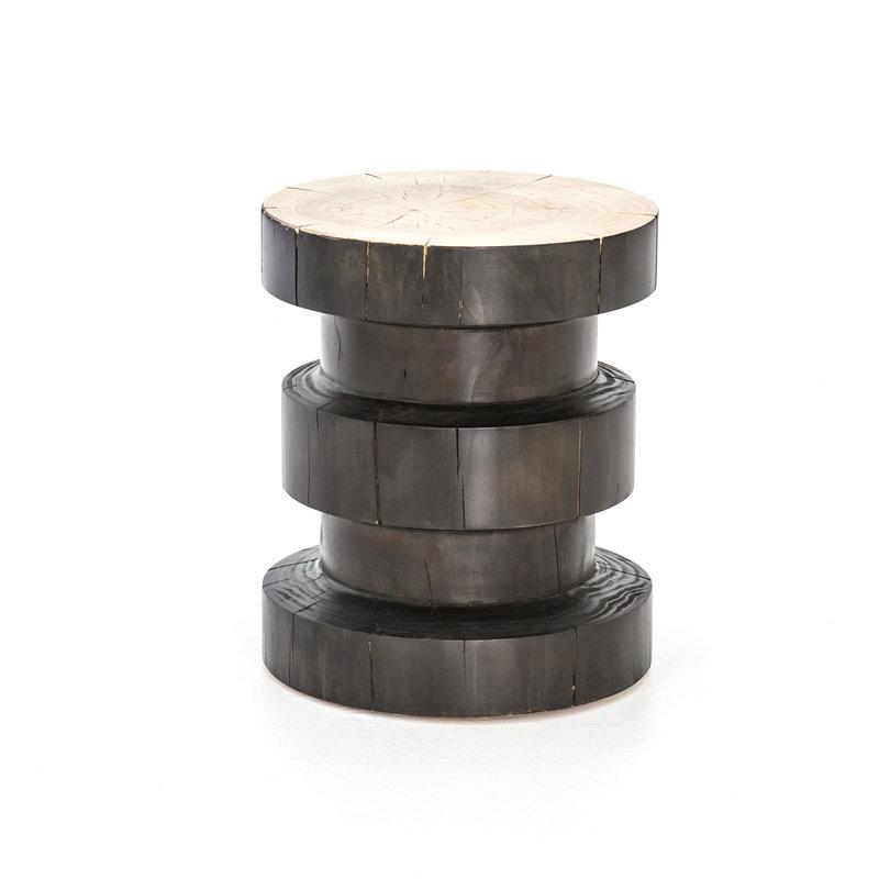 Nez End Table - Black Pine