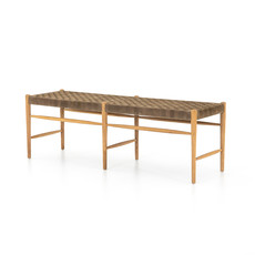 Four Hands Whatts Woven Suede Bench