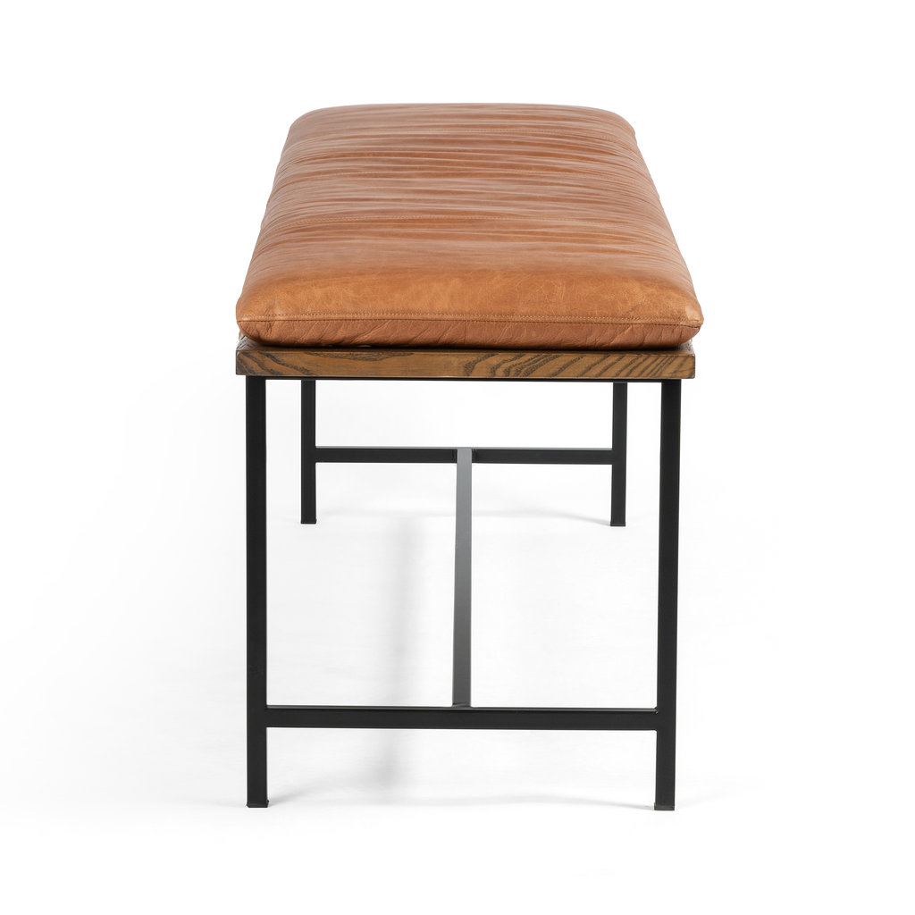 Four Hands Gabby Accent Bench - Cognac Leather