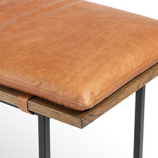 Gabby Accent Bench - Cognac Leather