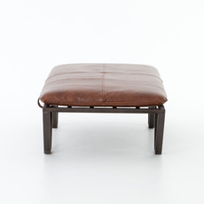 Four Hands Dean Ottoman - Tan Top Grain Leather