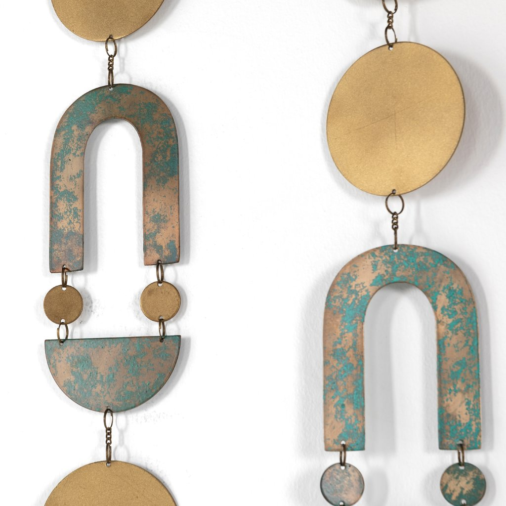 - Modern Painted Wall Hanging - (Set of 3)