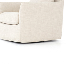 Four Hands Chase Swivel Chair - Cambric Ivory