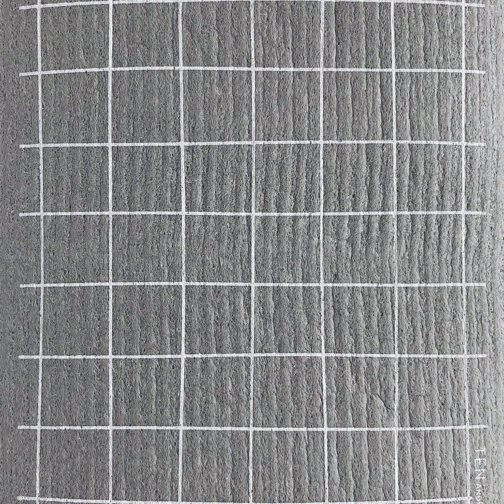 Ten & Co Grid Grey Sponge Cloth