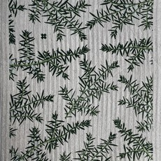 Ten & Co Juniper Greens on Grey Sponge Cloth