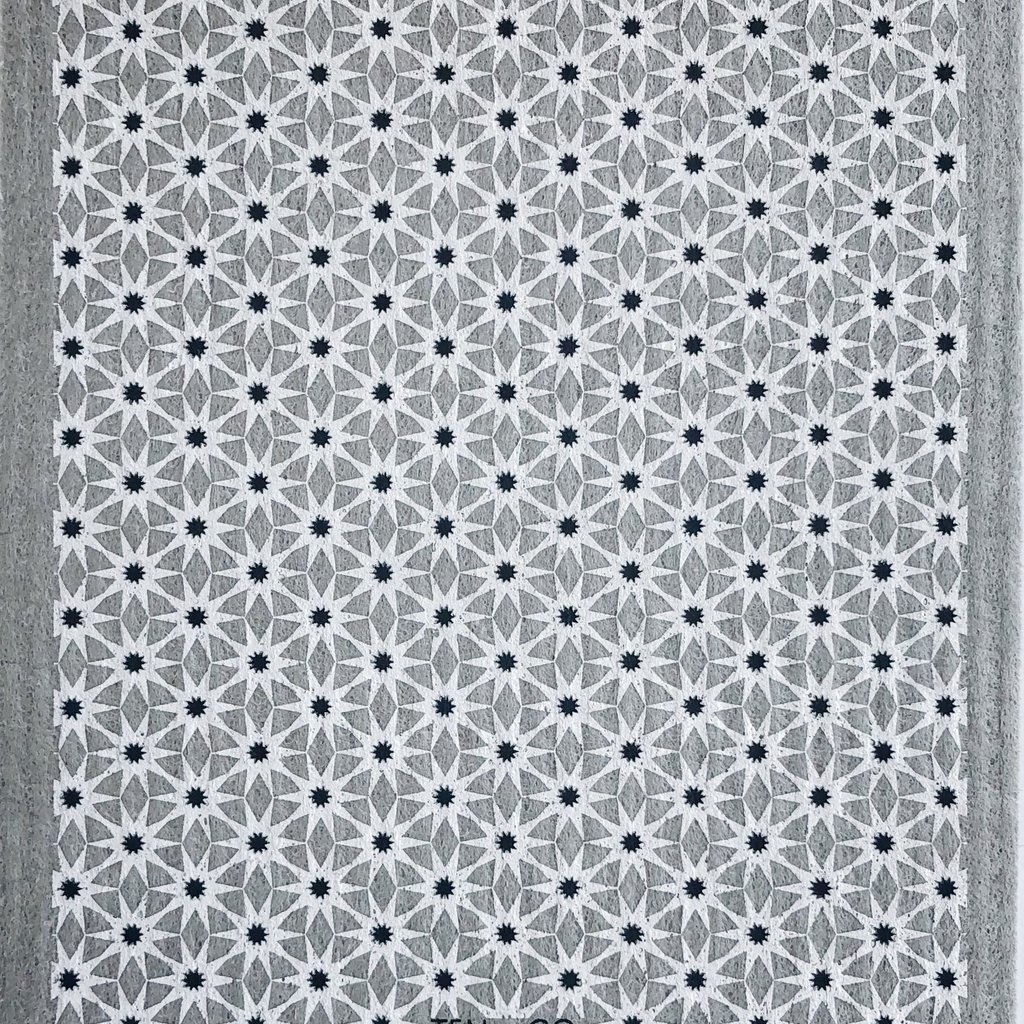 Starburst Neutrals on Warm Grey Sponge Cloth