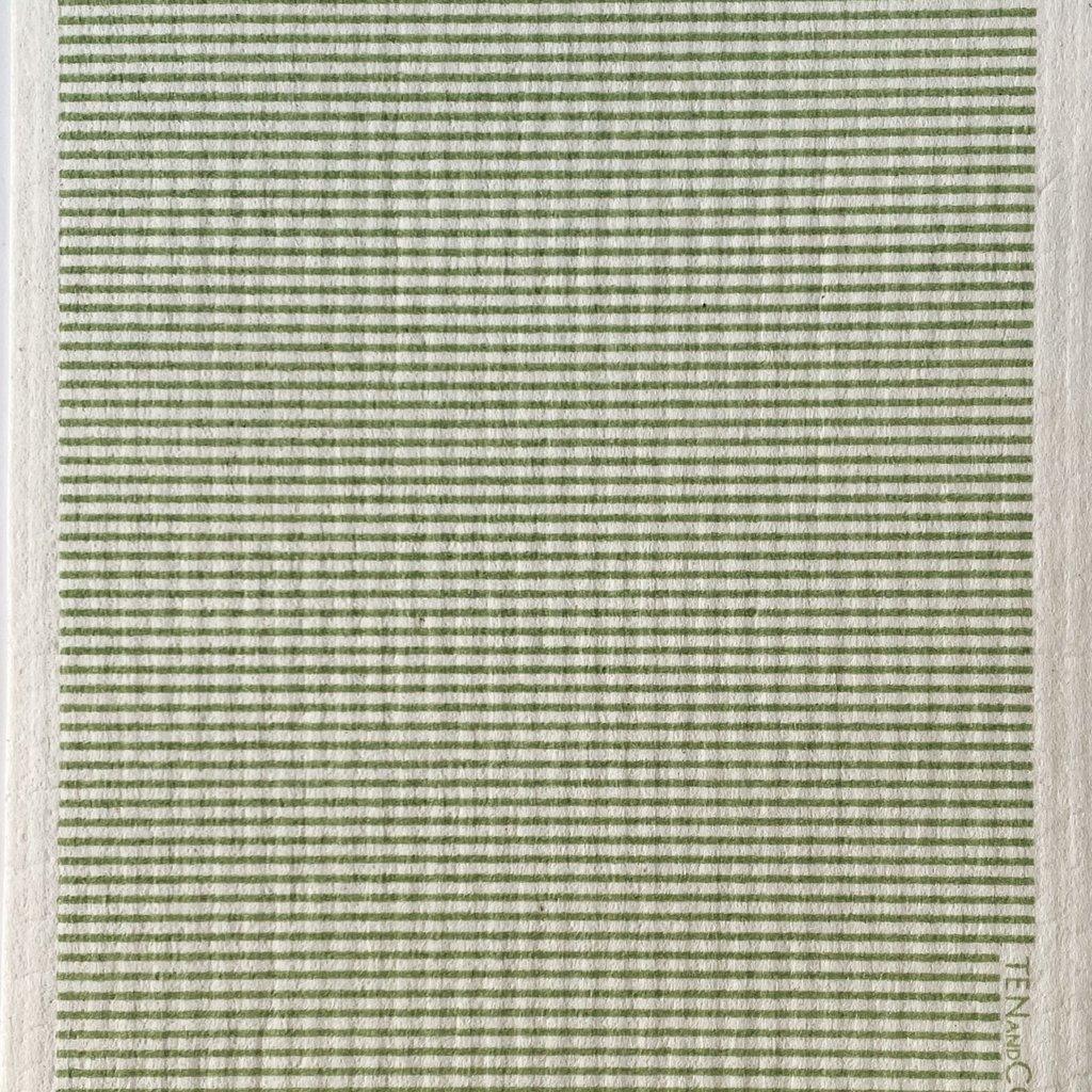 Stripe Sage Sponge Cloth