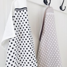 Ten & Co Tea Towel Tiny X Black