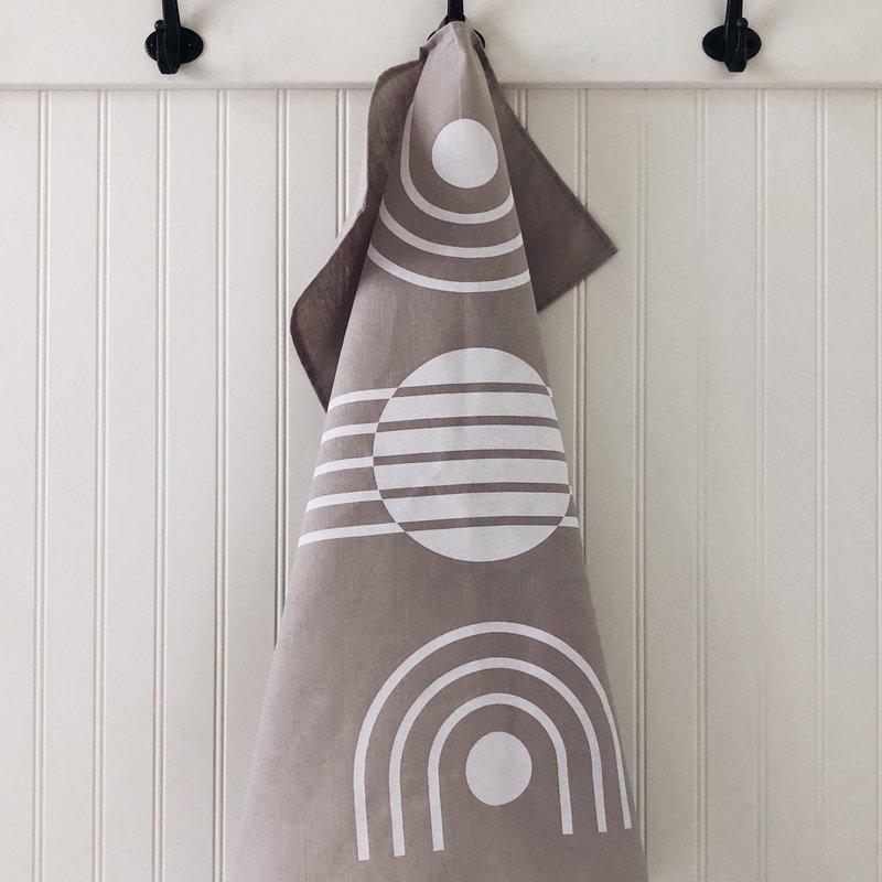 - Tea Towel Arc White on Grey